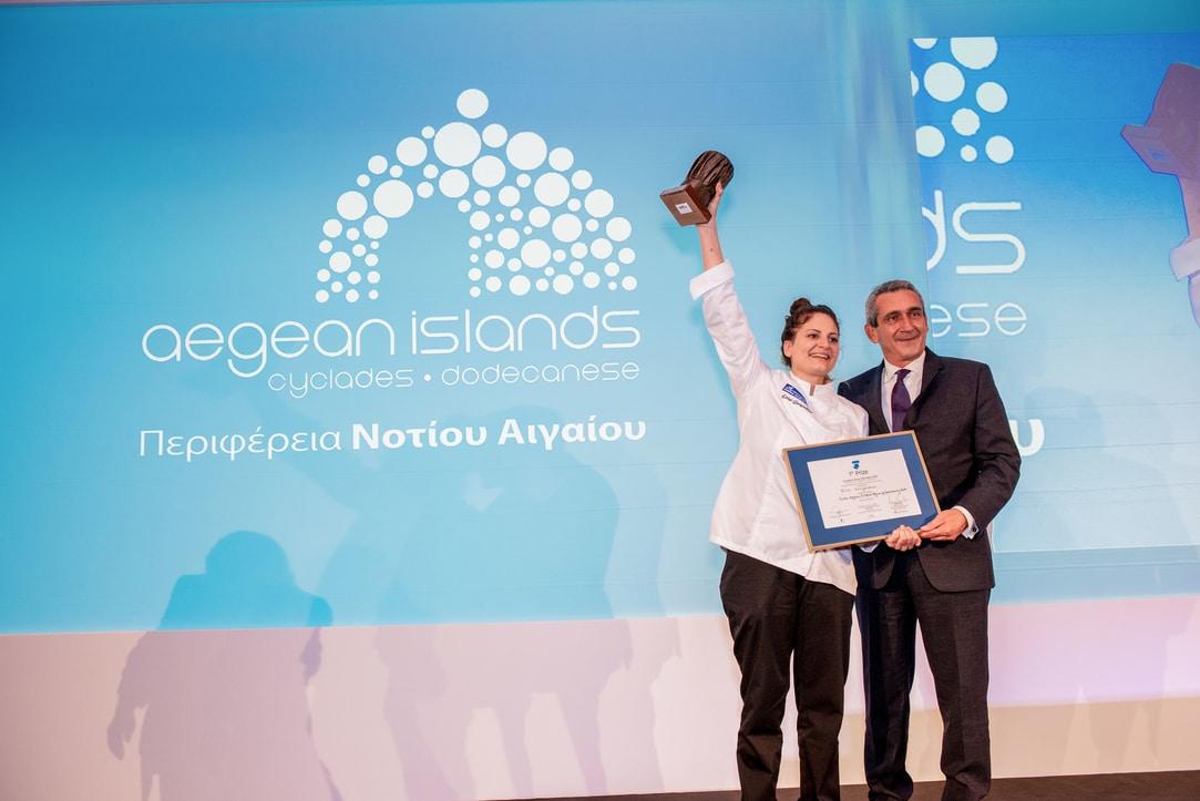 Τον τίτλο της καλύτερης Ευρωπαίας νέας σεφ «European Young Chef 2019» απέσπασε η 24χρονη Ροδίτισσα Ειρήνη Γιωργουδιού που συμμετείχε στον διαγωνισμό, εκπροσωπώντας την Περιφέρεια Νοτίου Αιγαίου. Σημειώνεται ότι είναι η δεύτερη φορά στην ιστορία του θεσμού, που ο τίτλος έρχεται στην Περιφέρεια Νοτίου Αιγαίου, γεγονός που καταδεικνύει το υψηλό επίπεδο των νέων σεφ και την συστηματική δουλειά που γίνεται, για την ανάδειξη της γαστρονομίας των νησιών.