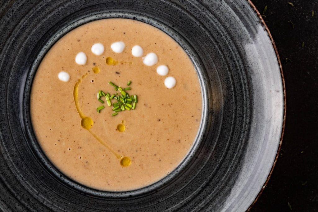 σούπα κάστανο βελουτέ με κάστανα συνταγη αργυρω