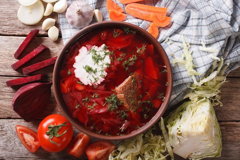 παντζαροσουπα σουπα μπορσ με παντζαρια borsch borscht