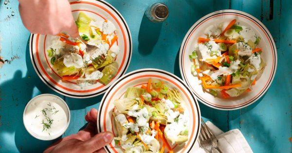 αγκινάρες σαλάτα