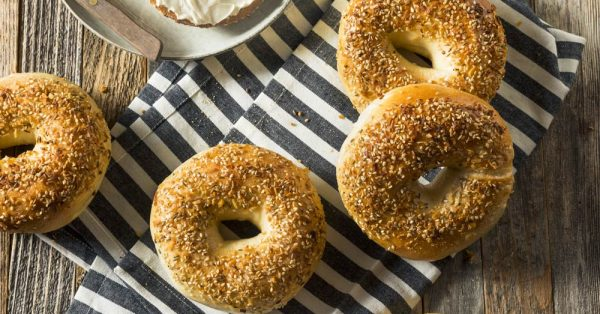 ψωμι bagel συνταγη bagels