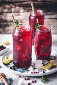 hibiscus ice tea παγωμενο τσαι ιβισκου κοκτειλ χωρις αλκοολ mocktails