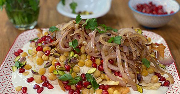 Λιβανέζικο με χούμους Σπαγγέτι με χούμους από την Αργυρώ Μπαρμπαρίγου