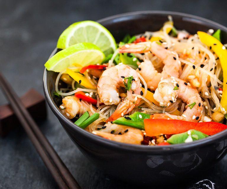 Νουντλς με γαρίδες (noodles)