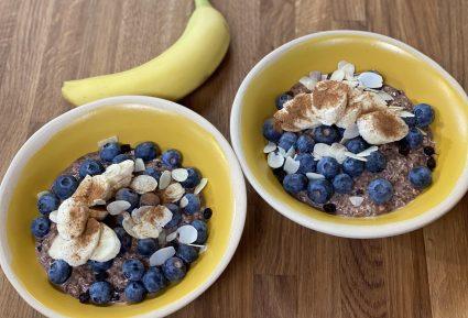Υγιεινό πρωινό με σοκολάτα, μπανάνα και βρώμη-featured_image