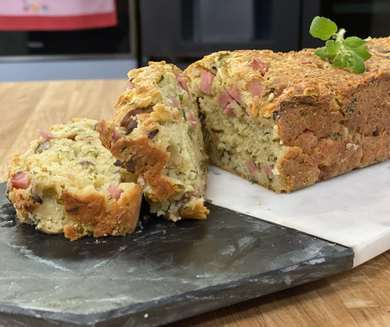 Αλμυρό κέικ με μανιτάρια