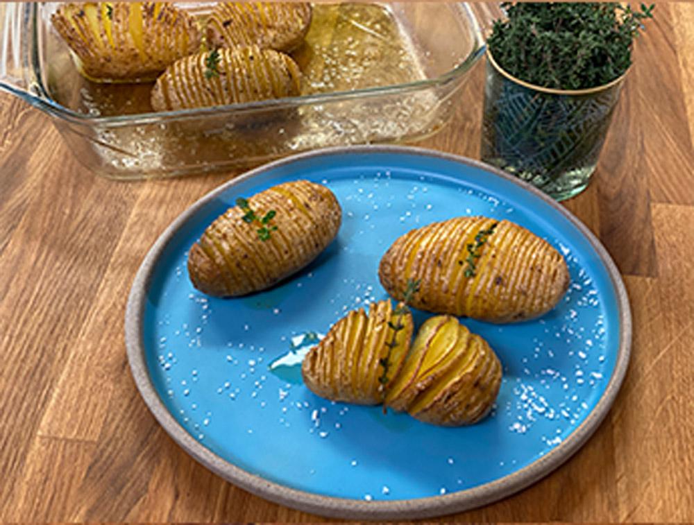 Πατάτες ακκορντεόν Hasselback