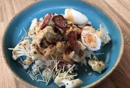 Κουνουπίδι σοτέ με μπέικον και αυγό-featured_image