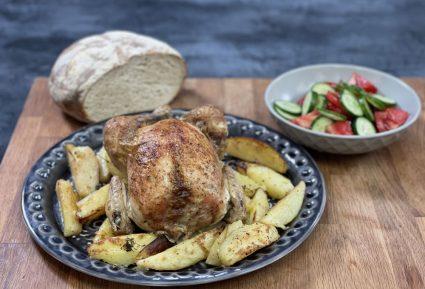 Κοτόπουλο με πατάτες στο φούρνο λεμονάτο-featured_image