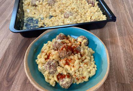 Vegan Mac and cheese με κεφτεδάκια νηστίσιμα-featured_image