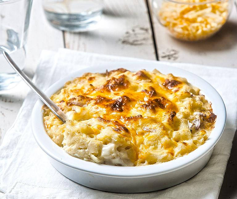 Mac and cheese με κοφτό μακαρονάκι και 4 τυριά στο φούρνο