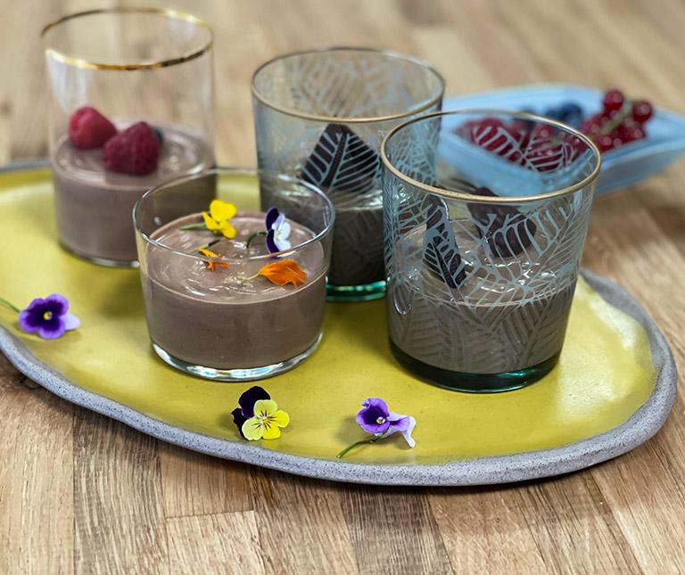 Μους σοκολάτα μέντα χωρίς ζάχαρη της Αργυρώς
