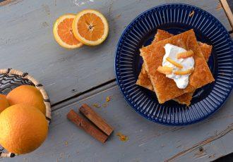 πορτοκαλοπιτα χωρισ φυλλο - πορτοκαλόπιτα τησ αργυρώσ - πορτοκαλοπιτα ευκολη και γρηγορη χωρισ φυλλο - πορτοκαλοπιτα με κρεμα